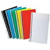 Ampad Wirebound Pocket Notebook, Narrow Rule, 3 x 5 inch, White Paper, 50 Sheets per Pad (25-093)