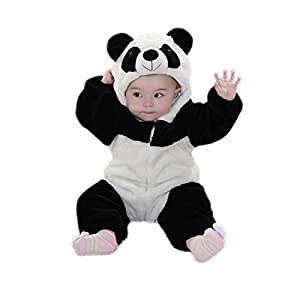 Infant Panda Costume Baby Jumpsuit Costume White