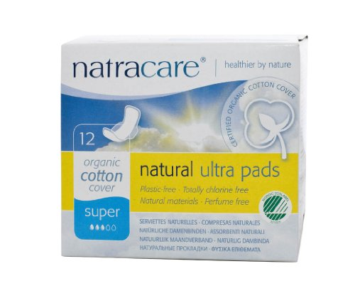 Natracare Organic And Natural Ultra Super Pad with Wings - 12 x Packs of 12 Pads (144 Pads)
