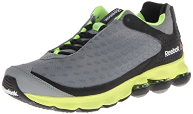 Reebok Men's DMXSKY Impact Running Shoe,Flat Grey/Black/Neon Yellow,9 M US