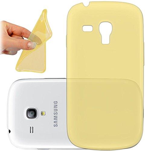 OneFlow PREMIUM - AERO-CASE aus transparentem Silikon (Ultra Slim) - für Samsung Galaxy Trend / Trend Plus (GT-S7560 / GT-S7580)) - GOLD