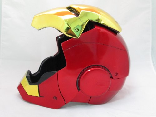 Iron Man Mark VII,III Cosplay Gold Open Helmet 1/1 Scale