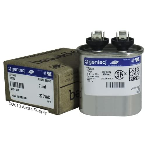 FAST SHIPPING GE Genteq Capacitor Oval 7 5 uf MFD 370 volt