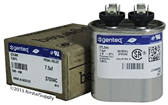 Fast Shipping Ge Genteq Capacitor Oval 7 5 Uf Mfd 370