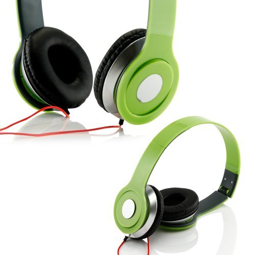 Gearonic Tm Adjustable Circumaural Over Ear Stereo Stero Earphone Headphone For Pc Mp3 Mp4 Ipod Iphone Ipad Tablet - Green