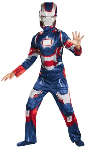 Iron Patriot Child Costume Classic 7-8 Kids Boys Costume