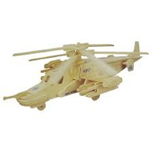 3D KA-50 Black Shark Woodcraft Construction Kit - 1