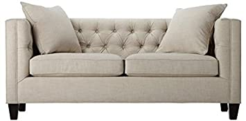 "Lakewood Tufted Sofa, 30""HX70""WX31""D, LINEN PEARL"
