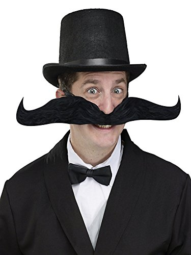 "Large Fake Mustache 20"" Bendable"