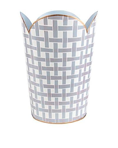 Jayes Basketweave Tulip Wastebasket, Lavender