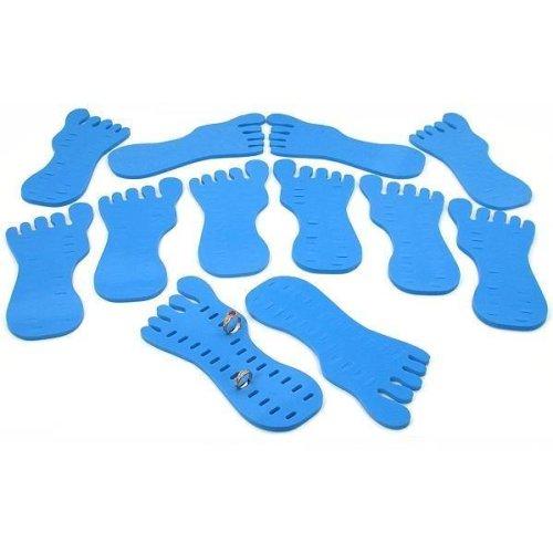 12 Toe Ring Foot Foam Display Body Jewelry Case Blue