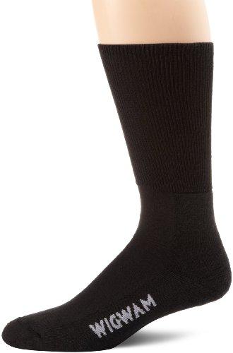 Wigwam Men's Diabetic Strider Socks, Black, Large
