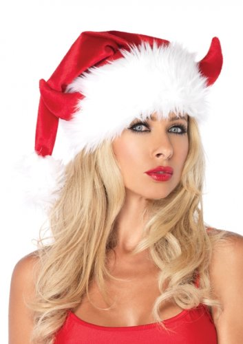 Leg Avenue Women's Devil Horn Santa Hat
