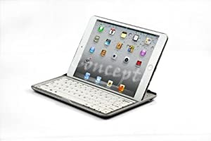 Aluminum Case Magnetic Slim Wireless Bluetooth V3.0 Keyboard for Ipad Mini Ip57