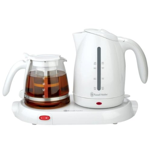Russell Hobbs Rhtt9W 1.7-Liter Electric Kettle With Keep Warm Tea Tray And 1-1/2-Liter Glass Tea Pot