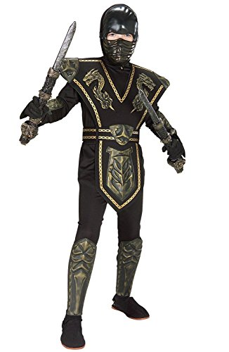 [Gold Dragon Warrior Ninja Costume - Medium] (Ninja Dragon Costumes)