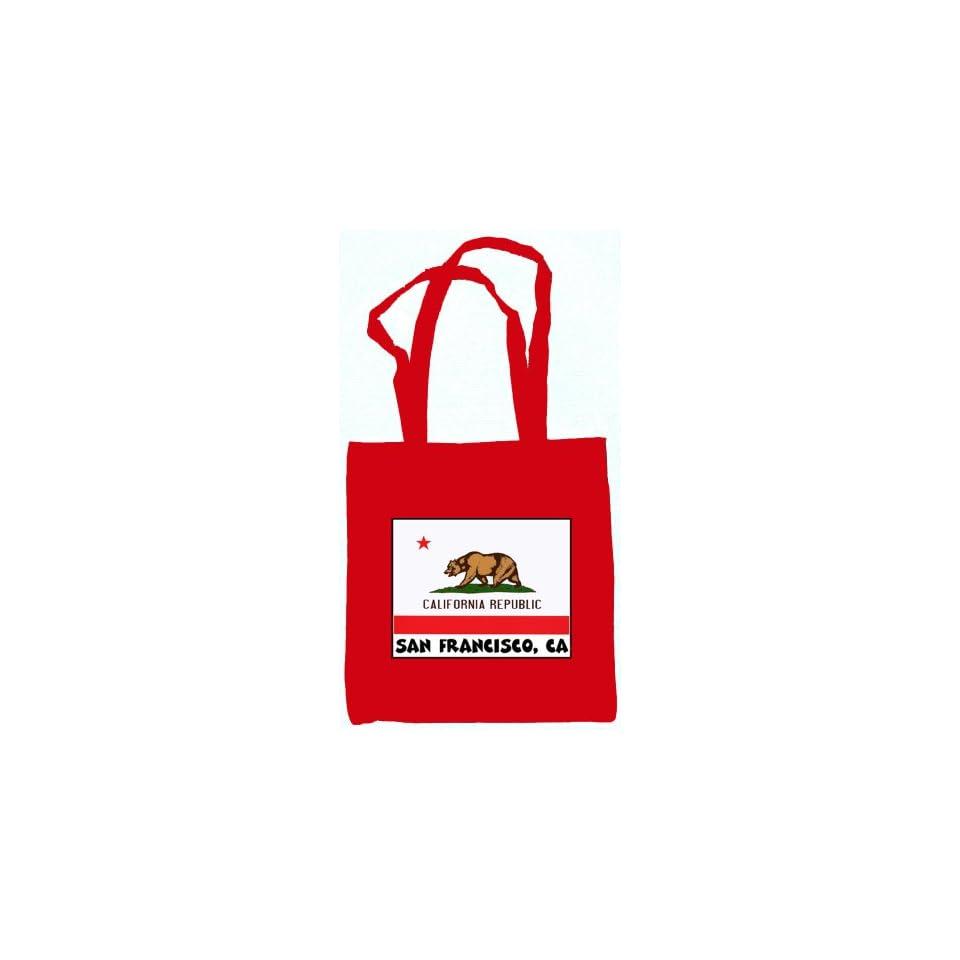 Souvenir San Francisco California Tote Bag Red