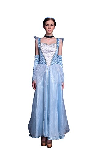 Miaoyifashion Women's Halloween Cosplay 4 Piece Cinderella Gown Set Costume