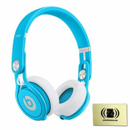 Beats by Dr. Dre Mixr Lightweight DJ Headphones (Blue) BUNDLE with Custom Designed Zorro Sounds Instrument Cloth