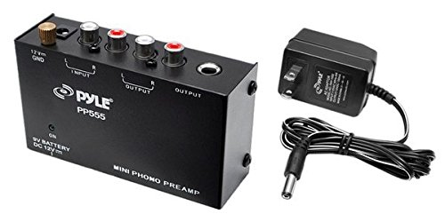 Pyle PP555 Ultra Compact Phono Turntable Pre-Amplifier with 9V Battery Compartment to Mini Phono Preamp (Turntable Preamp compare prices)
