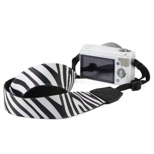 Birugear Zebra Dslr Camera Shoulder Strap Neck Strap For Sony Alpha A5000, A5100, A6000, Nex-5T, Nex-F3, Nex-3N/3Nl, Nex-6L, Nex-6, Nex-5R, Nex-7, Nex-5, Nex-3 And More Compact System Cameras *With Cleaning Cloth*