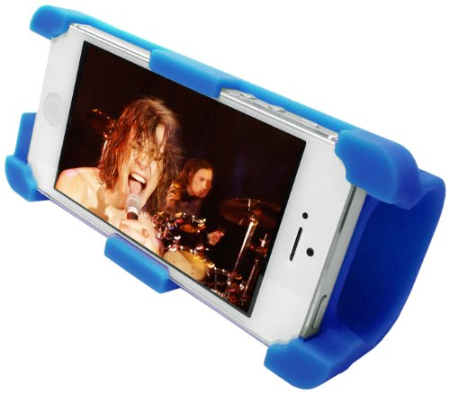 Datexx Instage Iphone Silicone Stand And Acoustic Amplifier For Iphone 5/5S/5C, Blue - Speakers - Retail Packaging - Blue