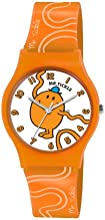 Mr Men and Little Miss LM0007 - Reloj analógico de cuarzo para niño, correa de plástico color naranja