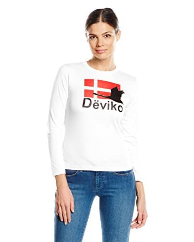 DEVIKO Camiseta Manga Larga Blanco