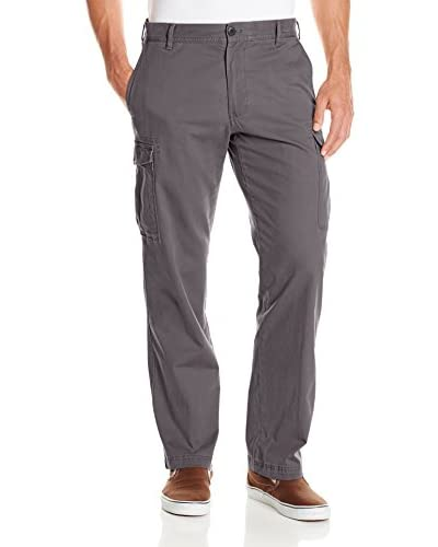 IZOD Men's Flat Front Straight Fit Stretch Cargo Pant