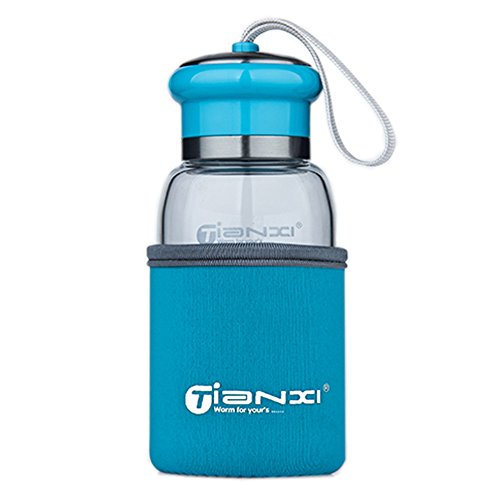 Cute Fashional Water Bottle For Kids Portable Sport Bottle\300ML(Indigo Blue)