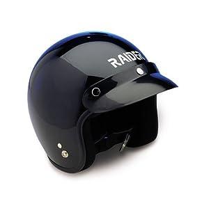 Raider Open Face Helmet (Black, Large) from Raider