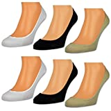 6 oder 12 Paar Damen Füßlinge Ballerina Socken Footies Baumwolle