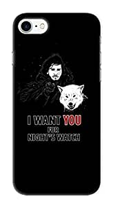 Pinklips Shopping Apple iPhone 7 Game of Thrones Design - GOT Hard Case Back Cover