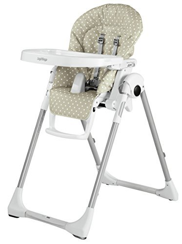 Peg Perego H5PPZ1BABE Highchair with Baby Lounger Function Prima Pappa Zero3 Babydot Beige by Peg-Pérego