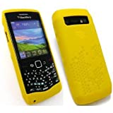 Genuine Blackberry 9100/9105 TUB 53 Yellow Silicone Skin in Genuine Retail Pacakingby BlackBerry
