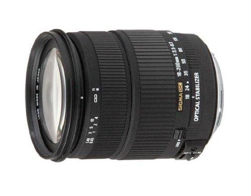 Sigma 18-200mm F3,5-6,3 DC OS (HSM) stabilisiertes Objektiv (72mm Filtergewinde) für Canon