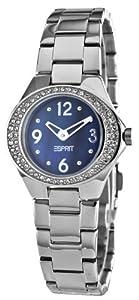 Esprit Damen-Armbanduhr Saturn Black Analog Quarz Edelstahl ES103982003