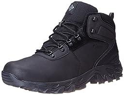 Columbia Men\'s Newton Ridge Plus II Wide Hiking Boot, Black/Black, 14 W US