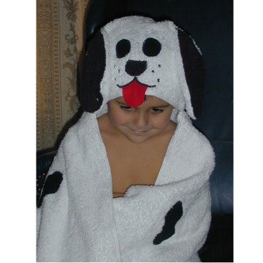 Animal Hooded Towel Wrap - Dalmation Towel - Toddler To Adult Cotton Hooded Bath, Pool, Or Beach Towel