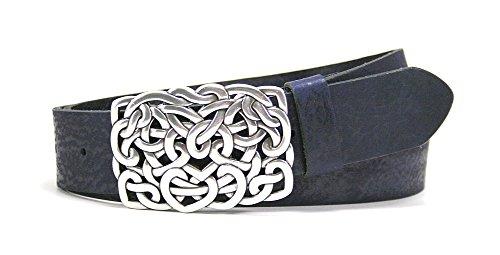 Leather Island 40mm Italian hand finished Indigo belt