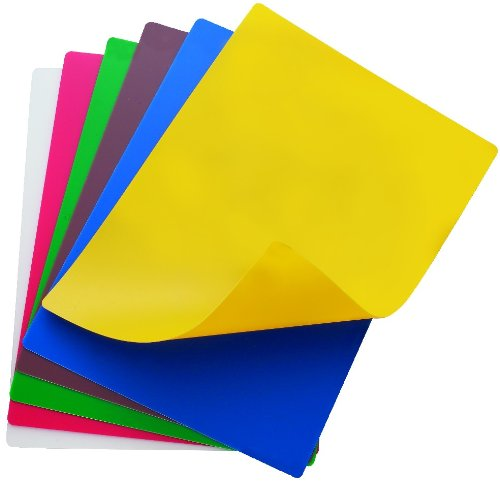 (Set of 6) Flexible Color Cutting Boards 18