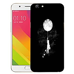 Snoogg Moon Balloon Designer Protective Back Case Cover For OPPO A59