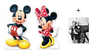 *FAN PACK* - Mickey Mouse and Minnie Mouse LIFESIZE CARDBOARD CUTOUT SET (STANDEE / STANDUP) - INCLUDES 8X10 (25X20CM) STAR PHOTO - FAN PACK #248