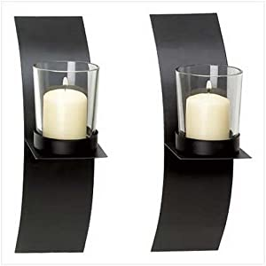 Amazon.com: Gifts & Decor Modern Art Candle Holder Wall Sconce Plaque