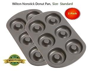 Wilton Nonstick 6-Cavity Donut Pan (STANDARD 2-Pk.)