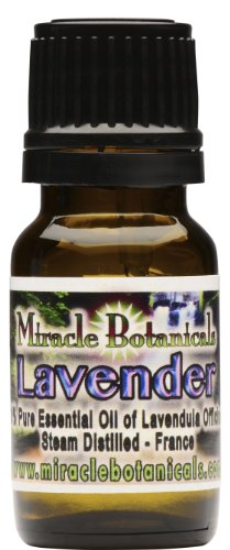 Miracle Botanicals Lavender Essential Oil - 100% Pure High Quality Medicinal Grade Lavendula Officinalis 10ml