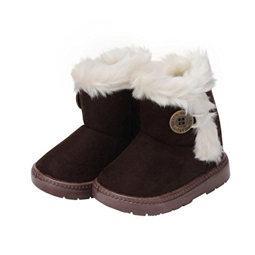 Muxika Fashion Unisex Baby Child Cute Winter Warm Anti-slip Soft Sole Snow Boot (Age:1-2 Years, Coffee)