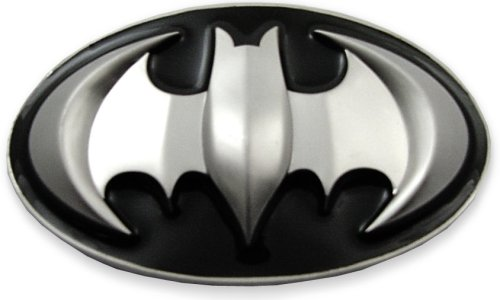 Batman 3D Logo Belt Buckle With FREE Belt (Black/Silver) #79
