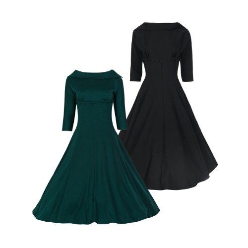 Lindy Bop Women's Marla' Jackie O 1950's 1960's 3/4 Sleeve Dress