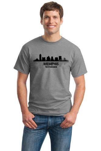 Memphis, Tn City Skyline Unisex T-Shirt / Tennessee River City Tee Shirt-Grey-Large